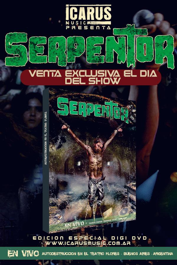 03.AGOSTO - TEATRO FLORES 7806 SERPENTOR - presenta su DVD AUTODESTRUCCIÓN http://bit.ly/1aNBhn8