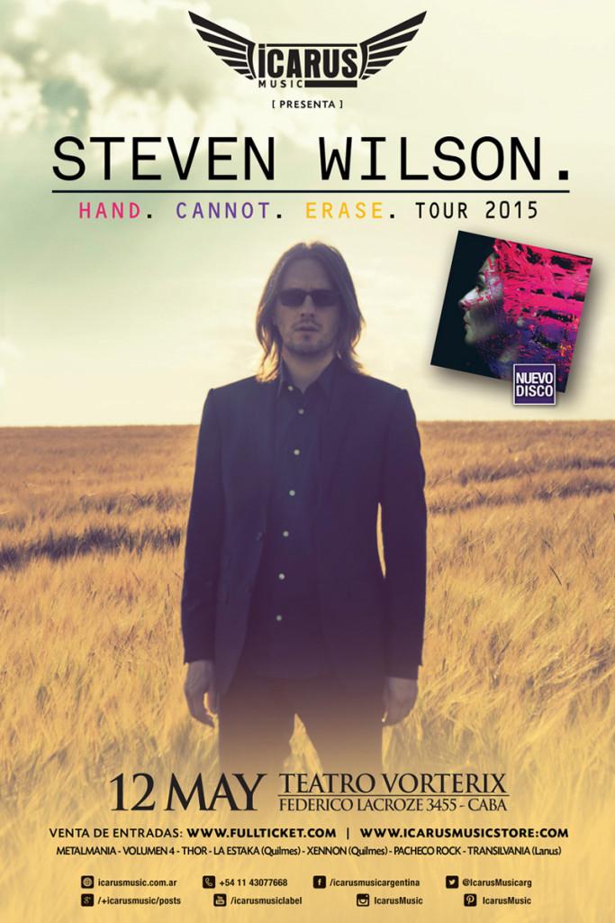 "STEVEN WILSON EN ARGENTINA - ""HAND.CANNOT.ERASE TOUR 2015"""