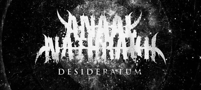 ANAAL NATHRAK: Presenta Desideratum su nuevo album