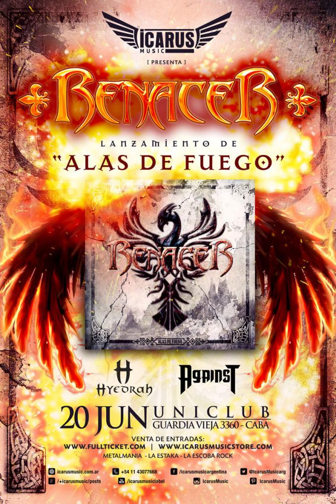 """RENACER presentación Oficial """"ALAS DE FUEGO"""""""