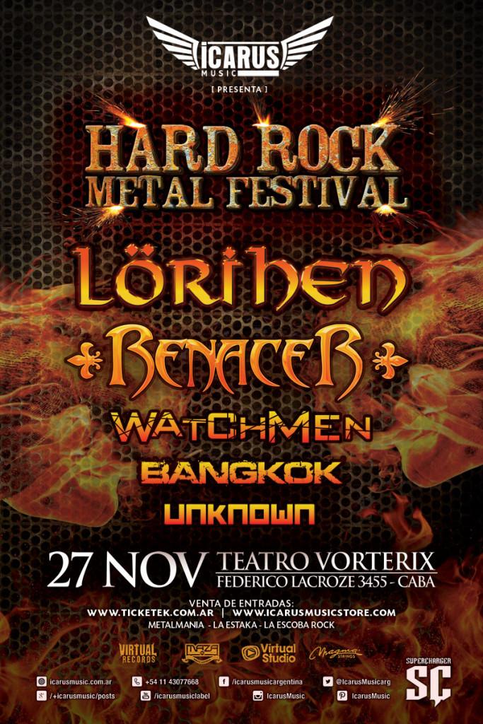 HARD ROCK METAL FESTIVAL: LORIHEN - RENACER - WATCHMEN - UNKNOWN - BANGKOK