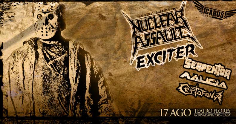 NUCLEAR ASSAULT & EXCITER En Argentina