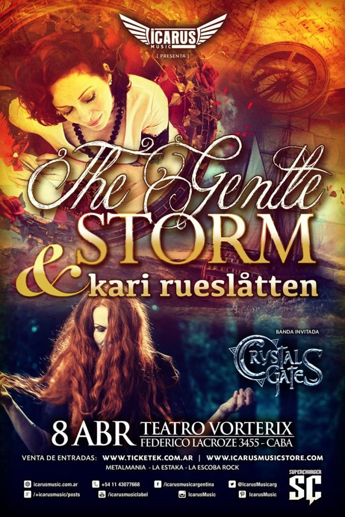 THE GENTLE STORM & KARI RUESLÅTEN en Argentina